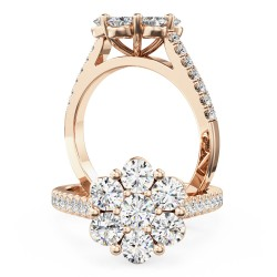 A breathtaking round brilliant cut diamond ring in 18ct rose gold