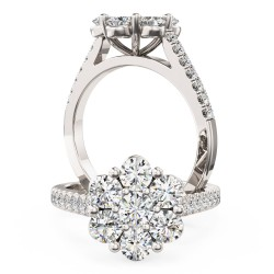 A breathtaking round brilliant cut diamond ring in platinum