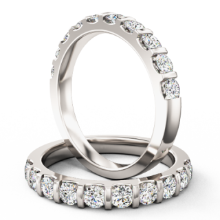 A dazzling Round Brilliant Cut diamond eternity/wedding ring in 9ct white gold