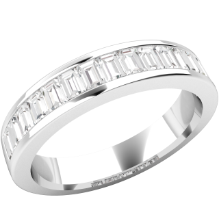 A magnificent Baguette Cut diamond wedding/eternity ring in 18ct white gold