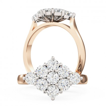 A beautiful round brilliant cut diamond ring in 18ct rose & white gold