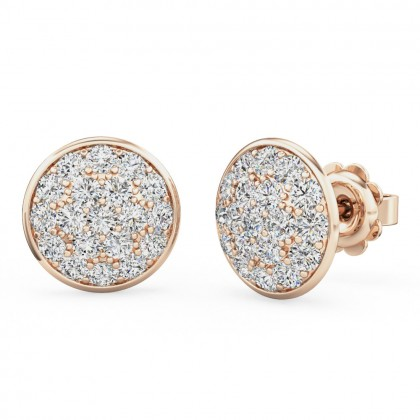 A beautiful pair of diamond cluster earrings in 18ct rose gold