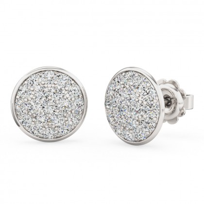A beautiful pair of diamond cluster earrings in 18ct white gold