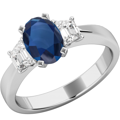 An exquisite Sapphire & diamond ring in platinum