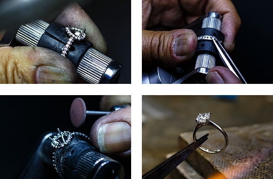All our jewellery is designed and crafted in-house by our expert workshop team.