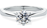 PD112W - 0.50ct - F Colour - VS2 Clarity engagement ring