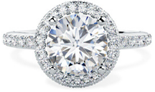 PD812W - 1.75ct - D Colour - SI1 Clarity engagement ring