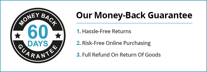 Our 60 day money-back guarantee