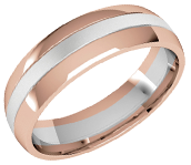 18ct White & Rose Gold
