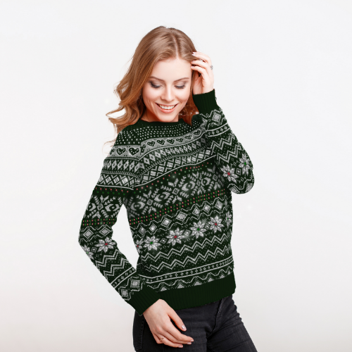 Diamond-Embellished Christmas Jumper
