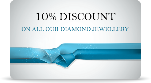 10% discount on all our diamond jewellery
