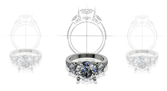 Bespoke diamond jewellery design service