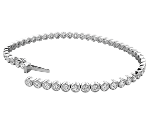 A diamond bracelet in white gold