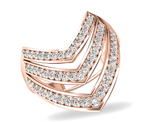 A diamond dress ring in rose gold