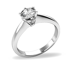 Single stone engagement ring in white gold