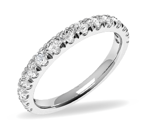 Full eternity ring in white gold