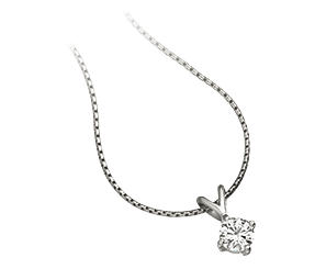 A diamond pendant in white gold