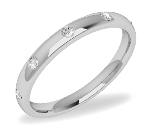 White Gold mens wedding band